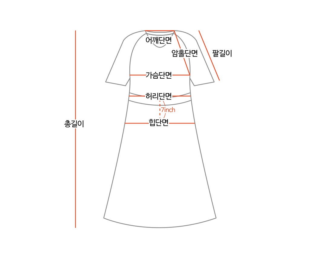 #One-mile look/camping look recommended 'MONICA' color matching printing Dress