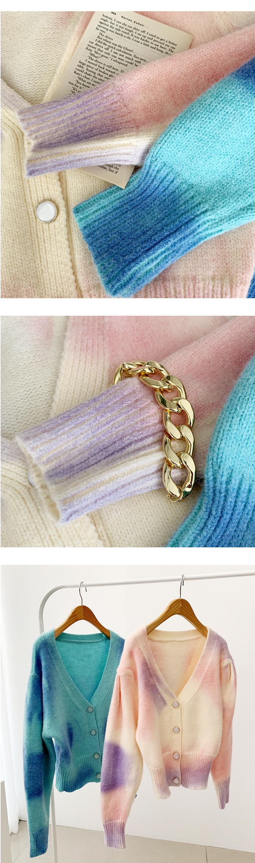 Fantasy Water Print Wool Knitwear Cardigan 2color