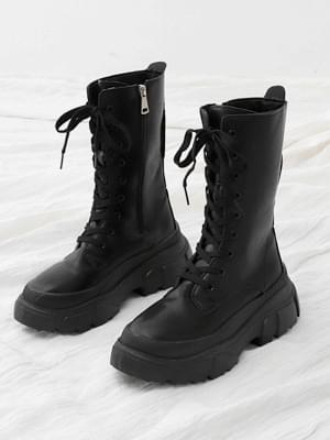 Round nose double outsole lace-up ankle work boots 11096 ♡ 2nd sold out♡