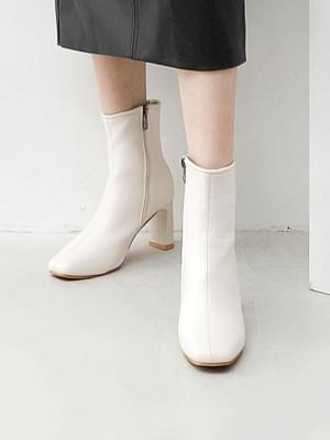 Square nose block heel high heel ankle boots 11080