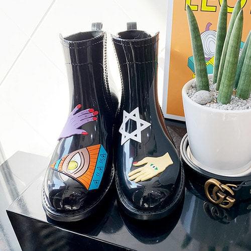 illustration rain boots