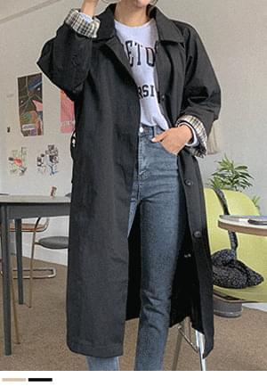 Neat and explosive single long coat + belt set