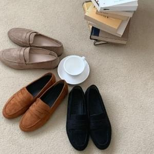 Soft suede penny loafers 1cm