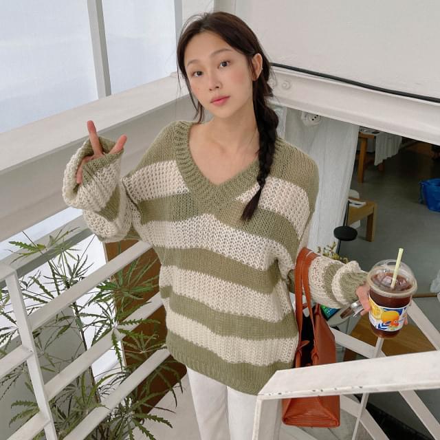 Luda V-Neck Loose-fit Knitwear