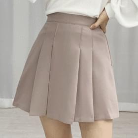 Edge Mini Pleated Banding Skirt