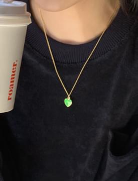 colorful heart pendant necklace