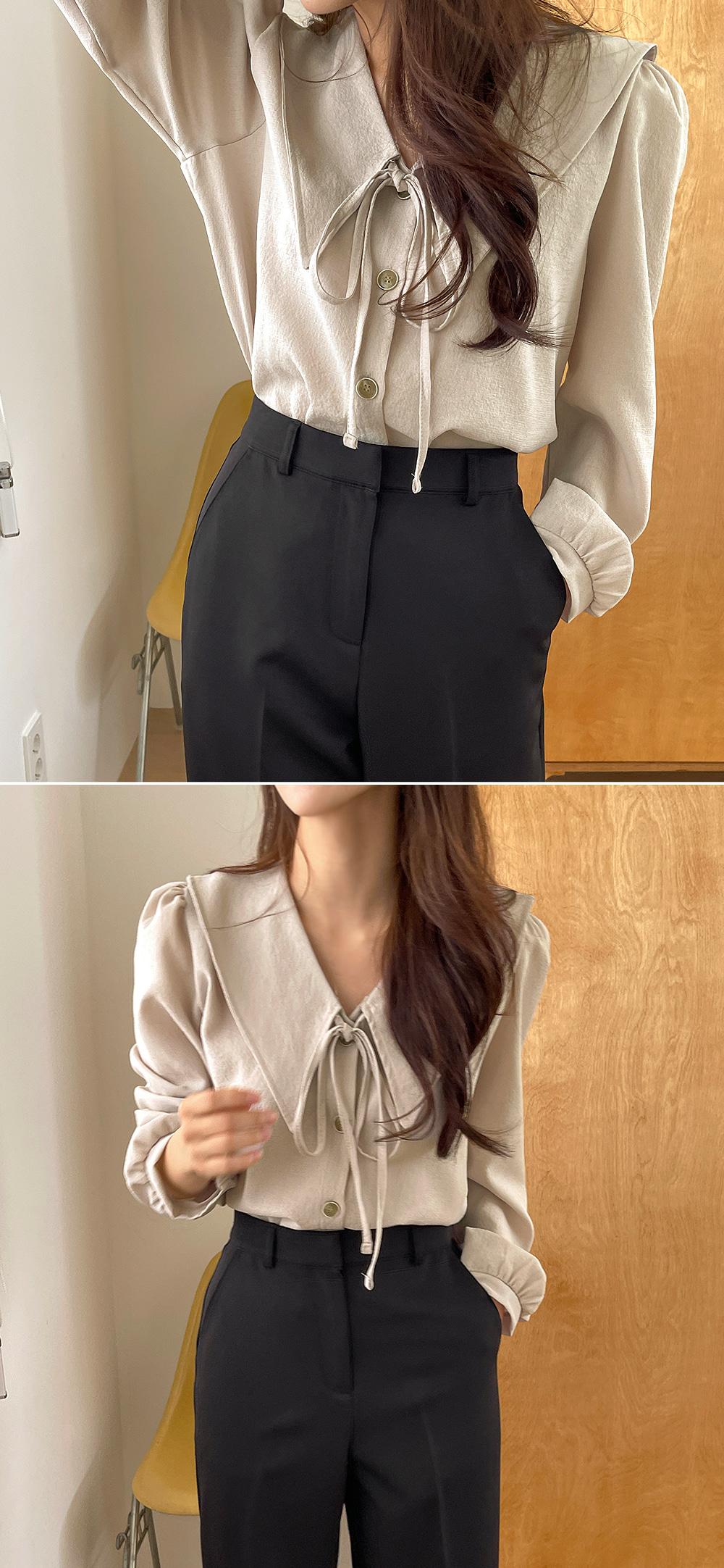 Monday david collar blouse