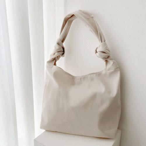Square Big Knot Shoulder Eco Bag 4color