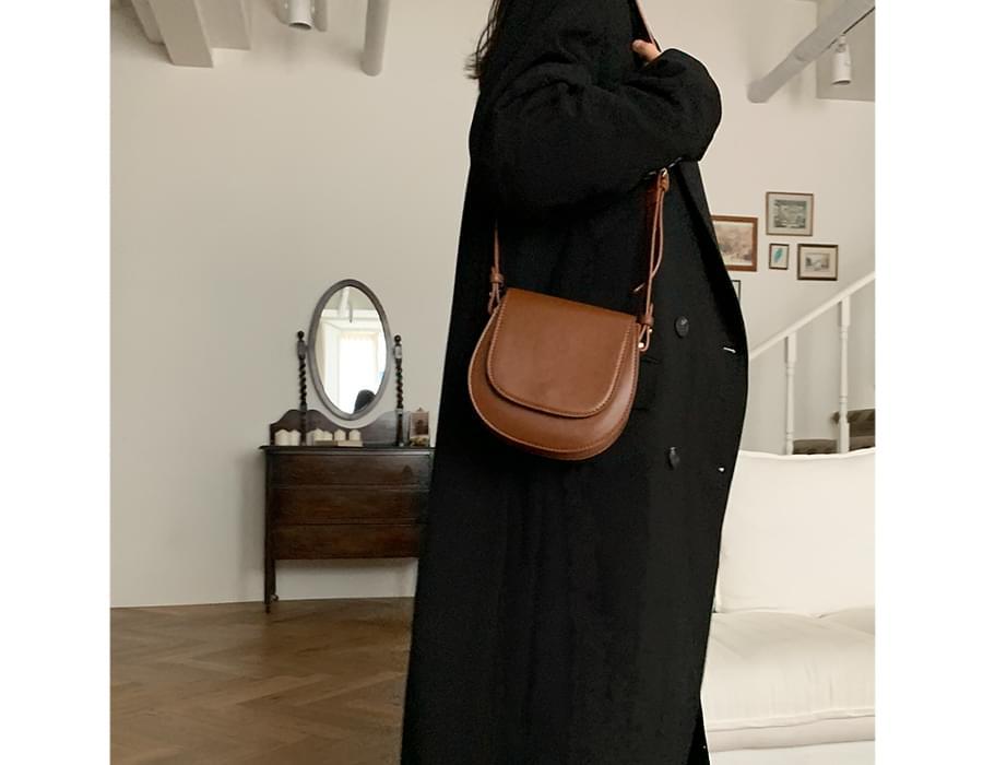 formal round mini shoulder bag