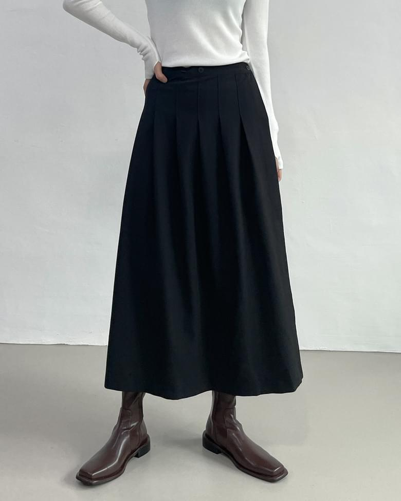 Dawson wrap pleated long skirt