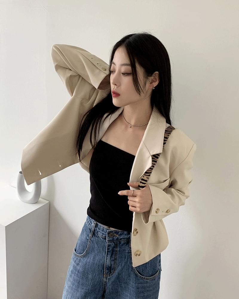 super cropped blazer jacket