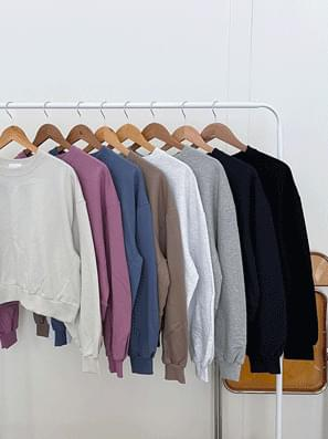 Square plain cropped Sweatshirt