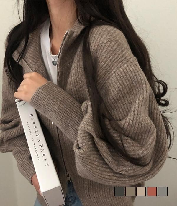 Pretty thick wool zip-up up to the sleeves
