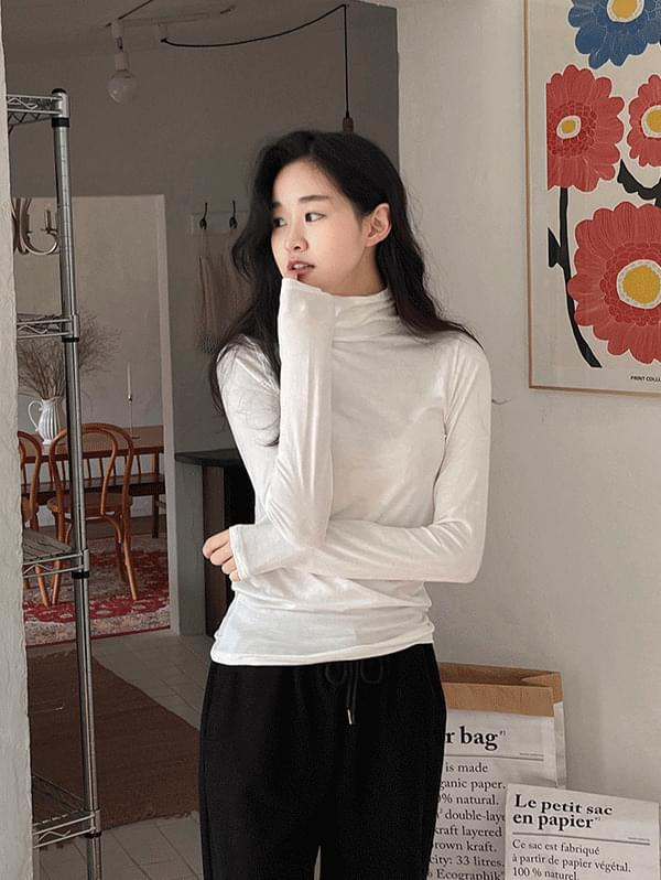 My Daily Daily Spandex Turtleneck T-shirt - 4color