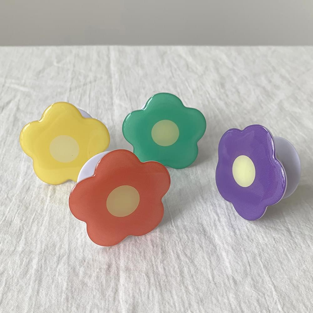 Skittles Flower Flower Shape Epoxy Grip Tok