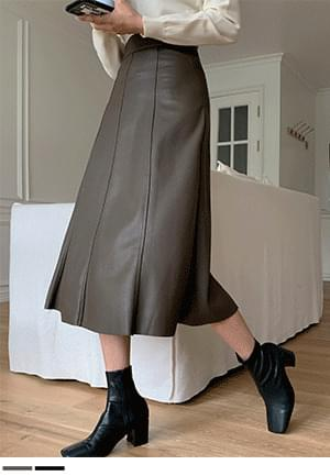 Fall in love, leather long skirt