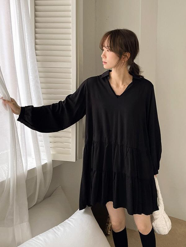 Girl Who Is Love Kara V - V-Neck Cancan Mini Dress
