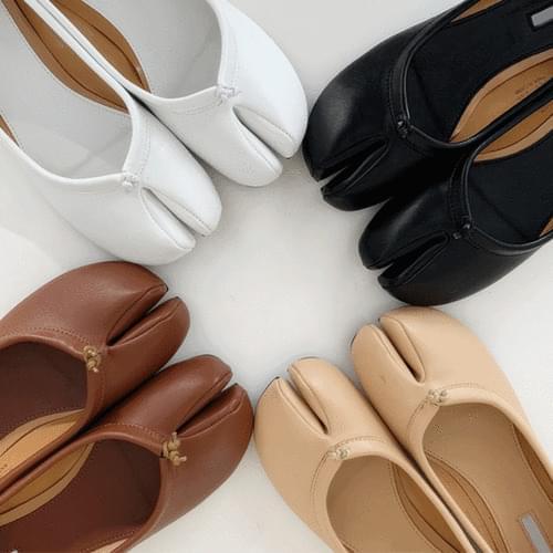 Marsam Pork Feet Tabi Flat Shoes 6color