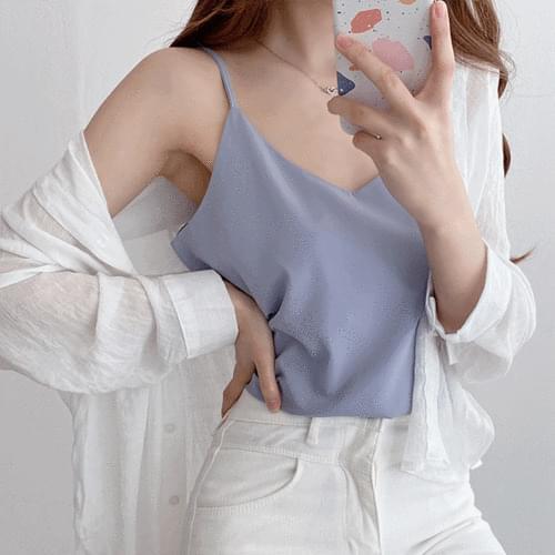 Silky Inner Slip Sleeveless Sleeveless Blouse 6color