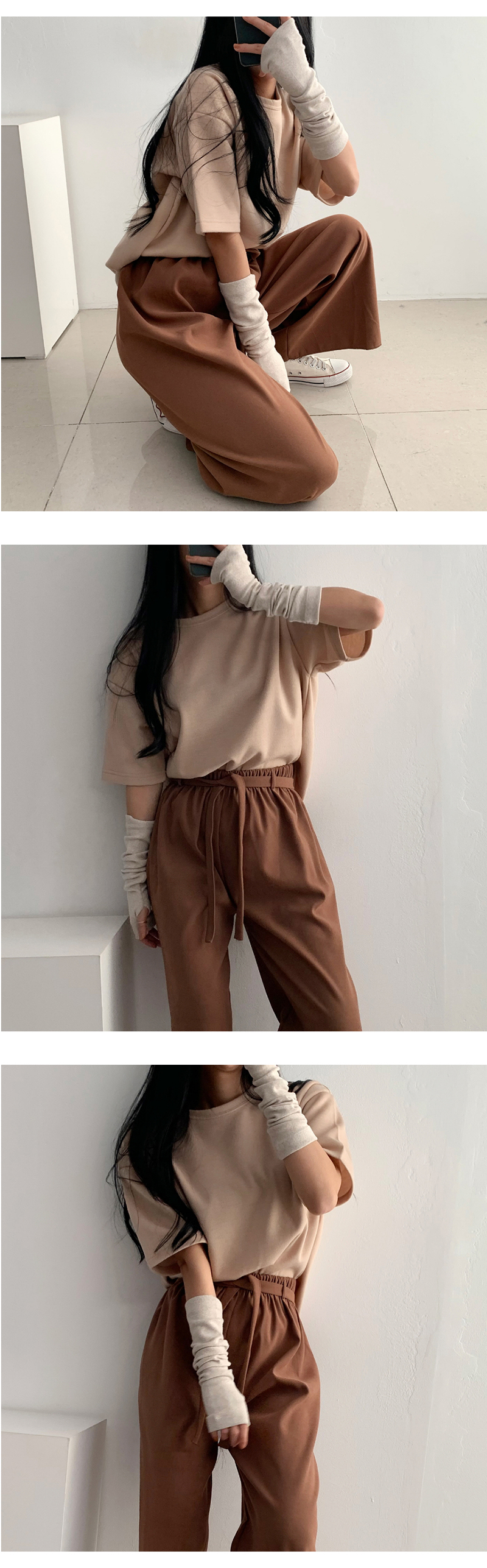 Kuanku Fleece-lined Long Hand Warmer 4color