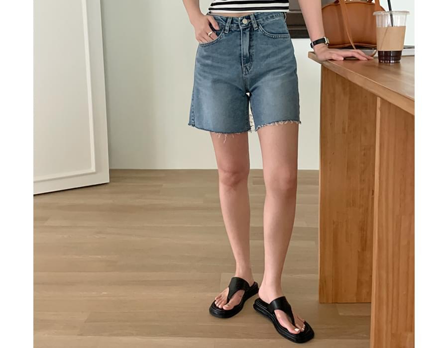 High Cut 3-Part Denim Pants