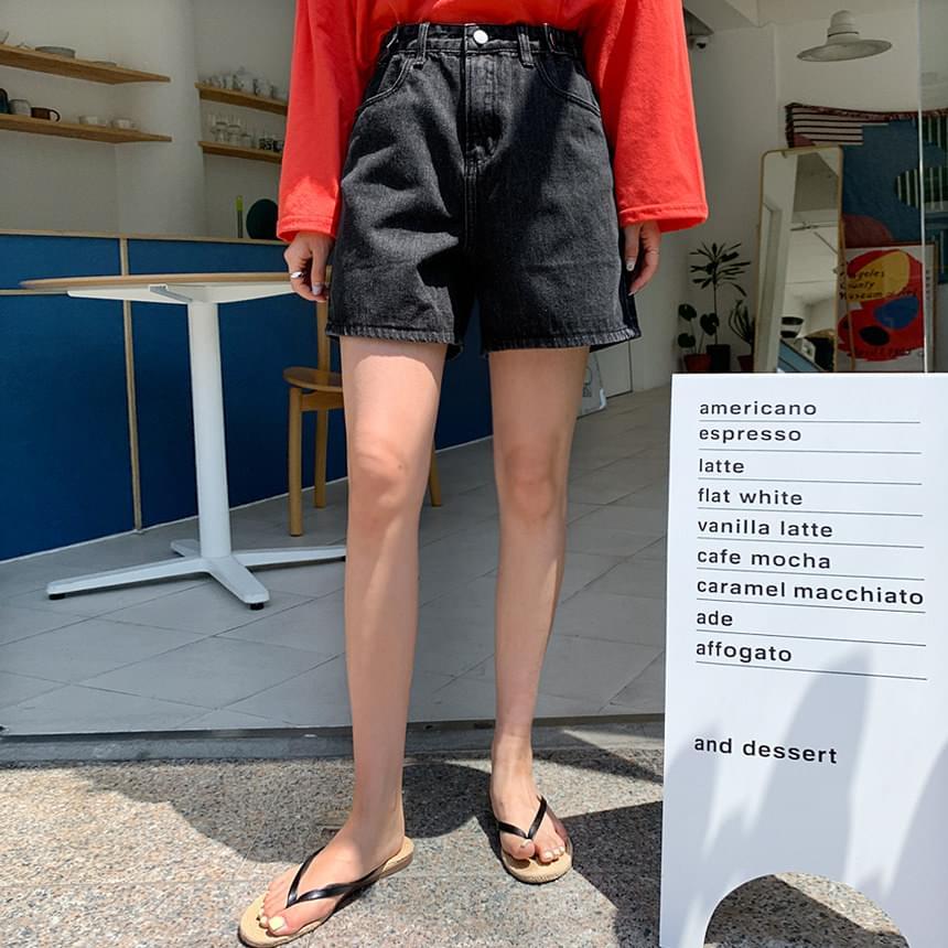 Velcro Half Denim Pants