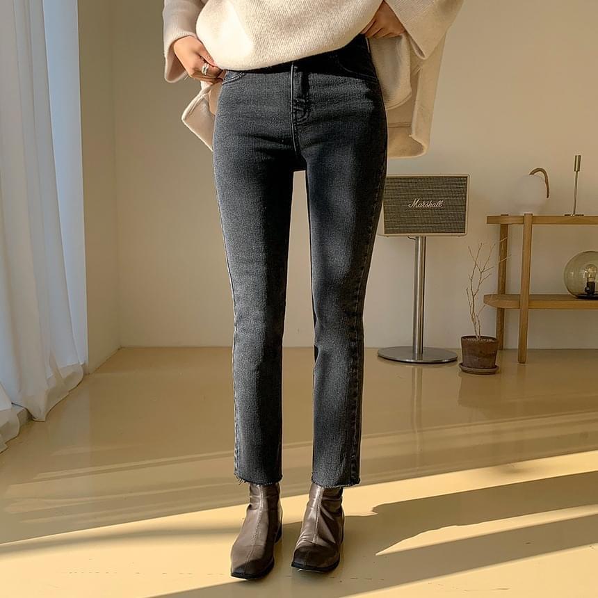 World Comfortable Bonding Fleece-lined Denim Pants