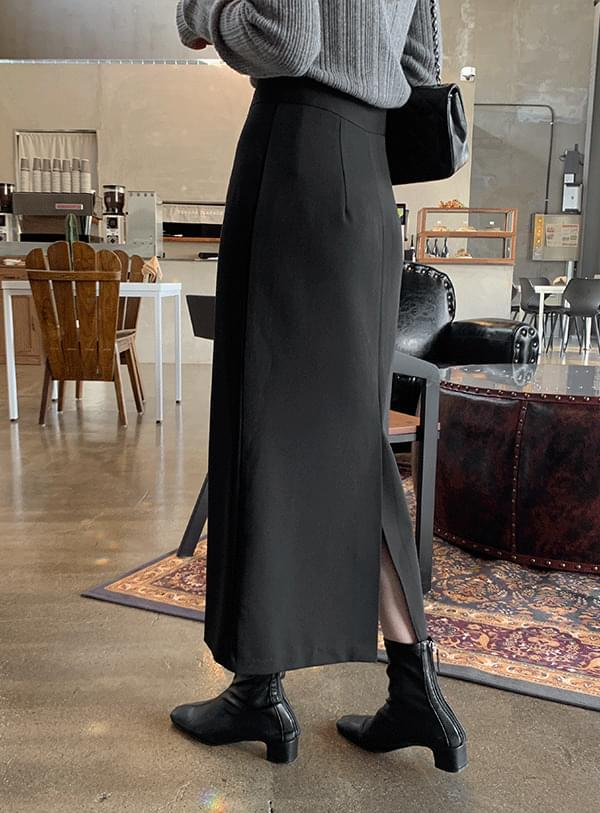 back Split skirt