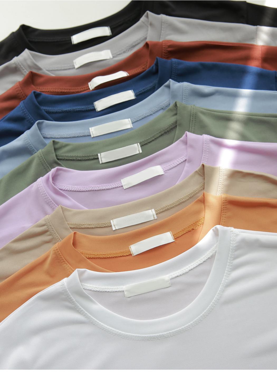 #Heat Planning Ice Round Neck Cool Short Sleeve Tee