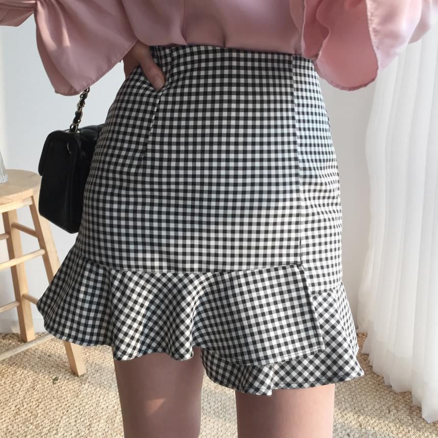 Ten check skirt