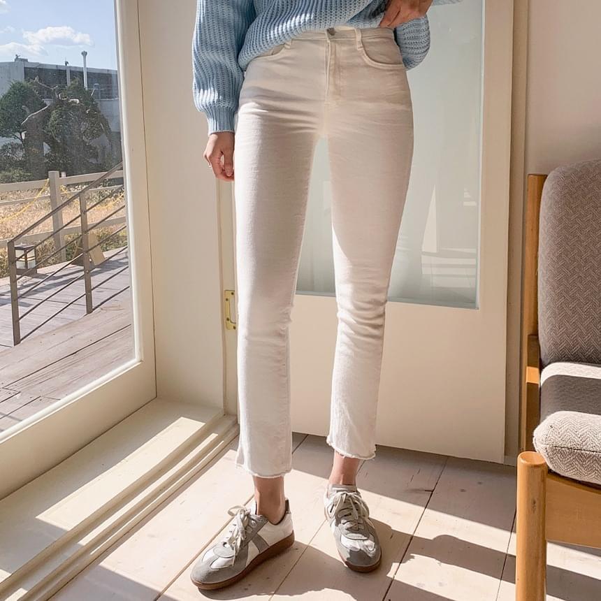 Fleece-lined Slim Fit Cotton Pants