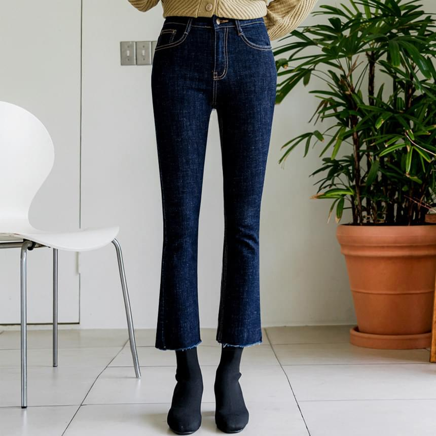 Comfortable Raw Flared jeans