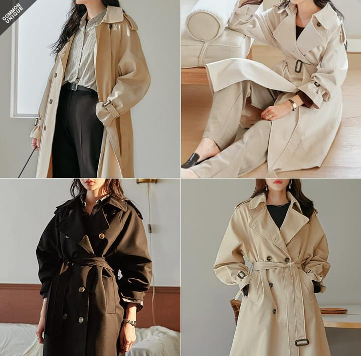 Long Double-Breasted Trench Coat WITH CELEBRITY _ JANG DOYEON