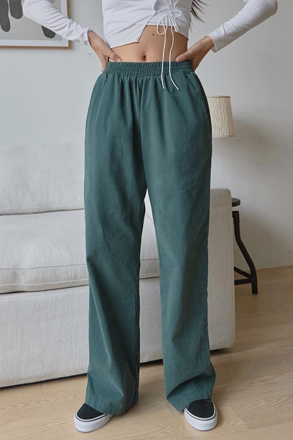 Stand Peach Cotton Pants