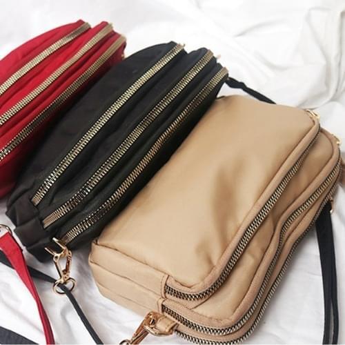 Non-Patent Prada Fabric Passport Bag Travel Mini Cross Bag