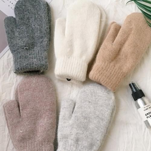 cute angora mittens