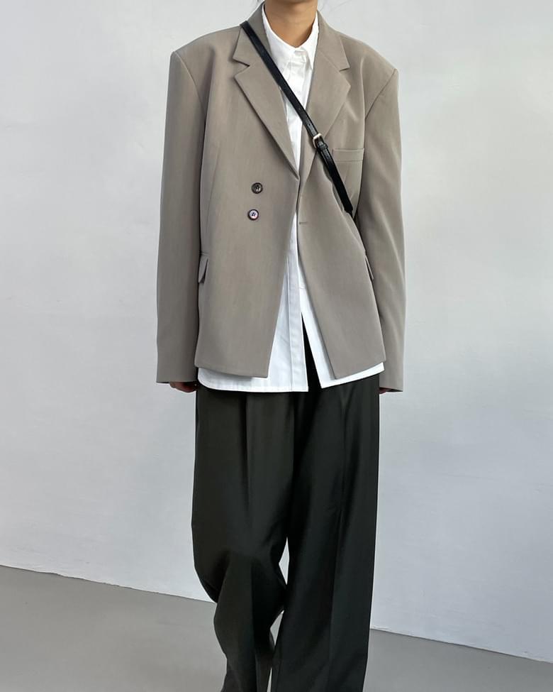 Owenty Stripe Overfit Short Jacket