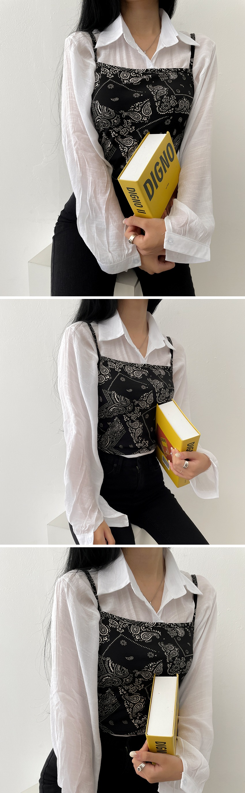 Paisley Bustier Bandana Scarf Wrap Top Sleeveless 3color