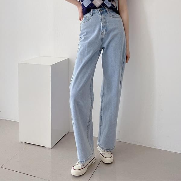 Body Cover High Waist Boy Fit Light Blue Denim Pants