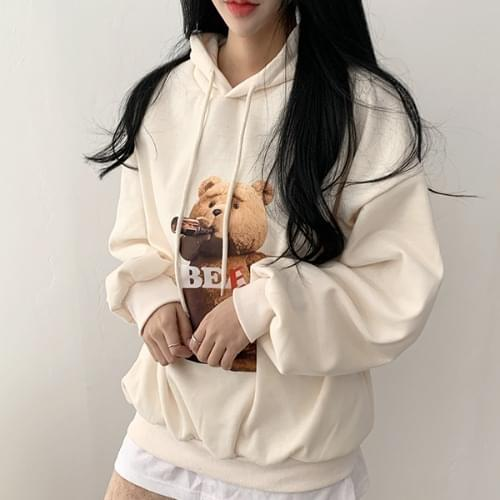 Cost-effective Teddy Bear Balloon Overfit Hoodie 3color
