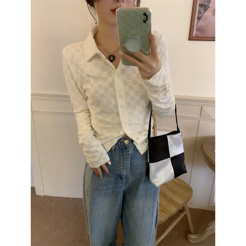 nb6065 collie white checkerboard shirt