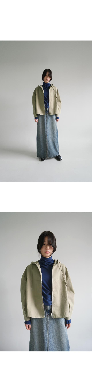 light washing denim long skirt
