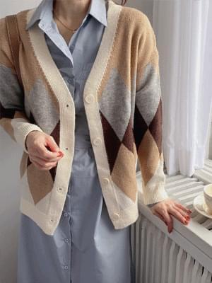 Mocha Rhombus Knitwear