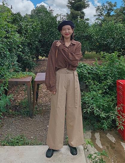 Allure Belt Cotton Pants