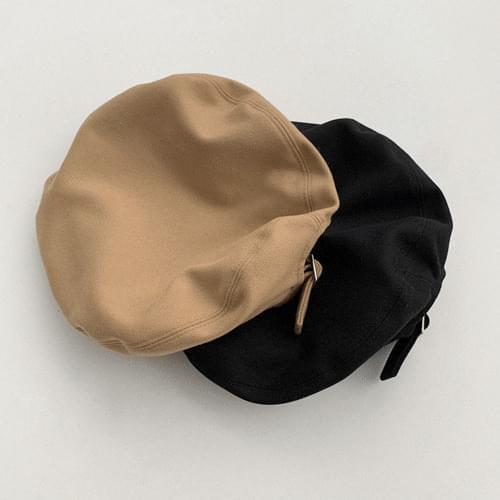 plain buckle beret