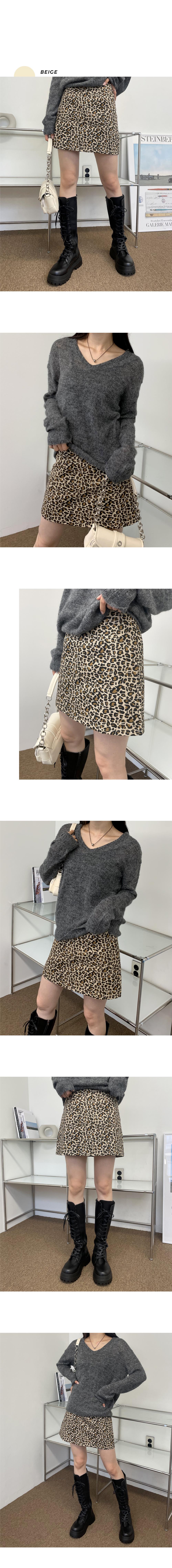 Ritu leopard leopard skirt