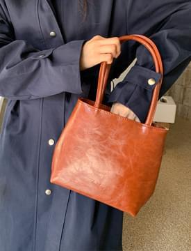 Medium Square Leather Tote Bag