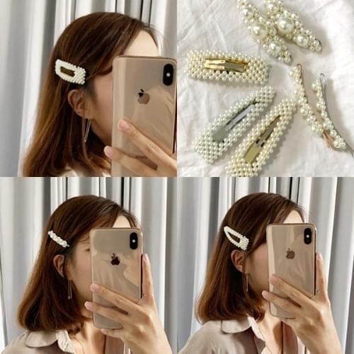 1+1 Nuclear Gain Pearl Hairpin Square Hairpin Wang Pin Park Narae Hair Accessories