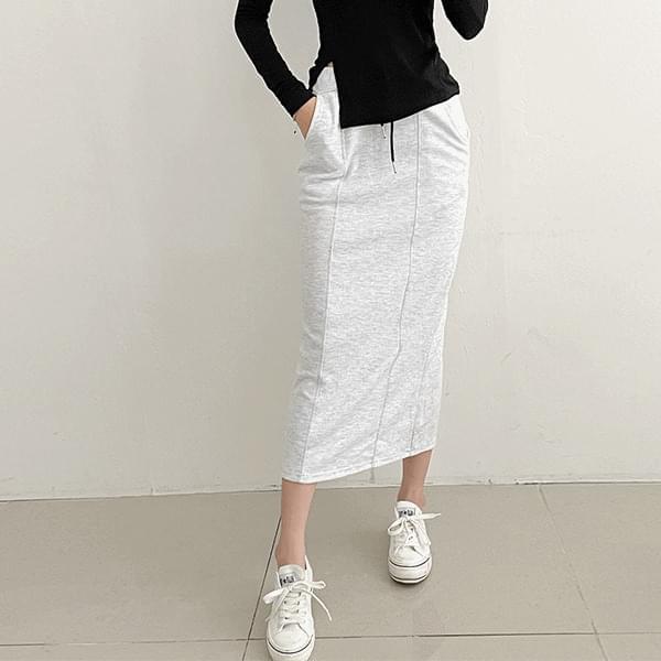 Crush Stitch Long Skirt