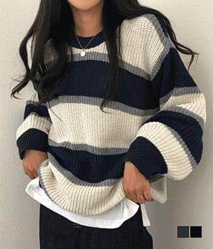School Uniform Item Hachi Striped Knitwear